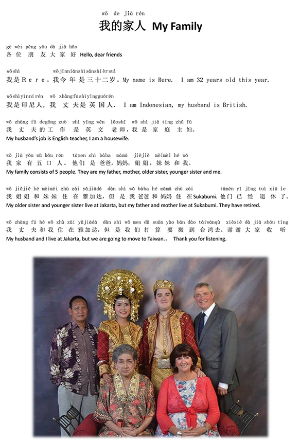 karangan Mandarin tentang Self Intro
